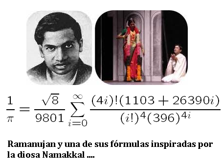 Ramanujan y una de sus fórmulas